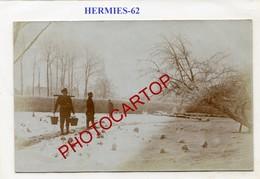 HERMIES-Janvier 1917-A.K.K.80-CARTE PHOTO Allemande-Guerre 14-18-1WK-France-62-Militaria - Andere Gemeenten