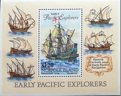 Norfolk Island 1964 Early Pacific Explorers S/S - Norfolk Island