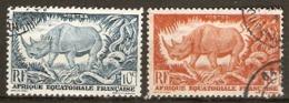 French Equatorial Africe  1947  SG 235-7  Fine Used - Französisch-Kongo (1891-1960)