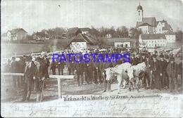 109826 AUSTRIA LIVESTOCK MARKET IN WARTBERG KREMSMÜNSTER POSTAL POSTCARD - Austria