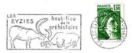 France (1979) Les Eyzies (24) Haut-lieu De La Préhistoire. Peinture Rupestre : Combat De Cerfs / Red Deers Cave Painting - Prehistoria