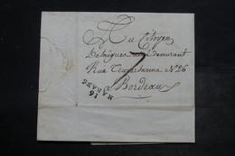 """FRANCE - Marque Postale """" 16 Marans """" Sur Lettre Pour Bordeaux - L 26543 - Marcophilie (Lettres)"""