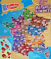 Magnet Le Gaulois Carte De France 2014 Ou 2018 Lot De 3 Magnets Au Choix (voir Liste Dans La Description) - Magnets