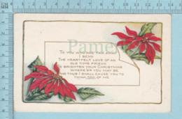 Carte Postale CPA -Christmas, - Used Voyagé En 19?? + USA Stamp, Send To Brattleboro V.T. - Noël