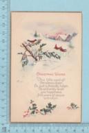 Carte Postale CPA -Christmas - Used Voyagé En 192? + USA Stamp, Cover Branttleboro V.T. - Noël