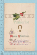 Carte Postale CPA -Christmas - Used Voyagé En 1914 + USA Stamp, Cover Providence R.I. - Noël