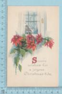 Carte Postale CPA -Christmas, Flowers - Used Voyagé En 192? + USA Stamp, Cover Brattleboro V.T. - Noël