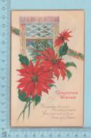 Carte Postale CPA -Christmas, Flowers - Used Voyagé En 1925 + USA Stamp, Cover Brattleboro V.T. - Noël
