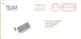ITALIA - ITALY - ITALIE - 2002 - 02,99 EMA, Red Cancel - TEAM - Viaggiata Da Lugo Per Lugo - Affrancature Meccaniche Rosse (EMA)