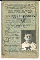 Carte D'Identité Famille Nombreuse Réduction 40 % Sur Billets De Chemin De Fer Varennes Les Nevers Nièvre - Transportation Tickets