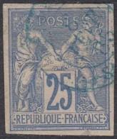 Colonies Générales - N° 36 (YT) N° 31 (AM) Type II Oblitéré. - Sage
