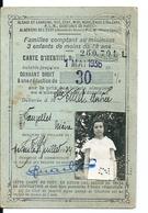Carte D'Identité Famille Nombreuse Réduction 30 % Sur Billets De Chemin De Fer Vauzelles Nièvre - Transportation Tickets