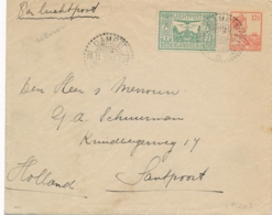 Nederlands Indië - 1929 - 75 Cent Luchtpost Op Cover 3e Terugvlucht Van LB Dampit Naar Santpoort - Geen As - Nederlands-Indië
