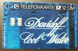 S 82 02.93     12  DM  Mint Voll   Davidoff Cool Water  #TK17 - Allemagne