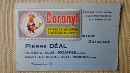 AVIS DE PASSAGE PUBLICITE PEINTURE CORONYL  ROANNE PRODUCTION CORONA VALENCIENNES - Riorges