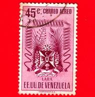 VENEZUELA - Usato - 1952 - Stemma Dello Stato Di Lara - Arms - 45 - P. Aerea - Venezuela