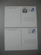 TAAF  Entier Postal 1991 N° 1CP Et 1994 N° 2CP - Hommage à L'Amiral Max Douguet  2 Cartes à Voir - Entiers Postaux
