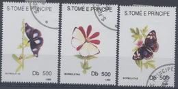 Saint Tome Et Prince : N° 1153 à 1155 Oblitéré Année 1993 - Sao Tome Et Principe