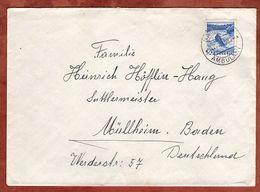Brief, EF Rheinfall Schaffhausen, Per Bahnpost Ambulant, Nach Muellheim 1946 (71638) - Switzerland