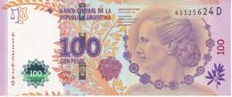 BILLETE DE ARGENTINA DE 100 PESOS DEL AÑO 2012 SERIE D CALIDAD EBC (XF)(BANKNOTE) DIFERENTES FIRMAS - Argentina