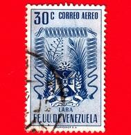VENEZUELA - Usato - 1952 - Stemma Dello Stato Di Lara - Arms - 30 - P. Aerea - Venezuela