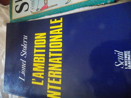 Lionel Stoleru.l'ambition Internationale .dedicaces SIGNE - Books, Magazines, Comics