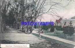 109830 ROMANIA BISTRITZER PROMENADE PARK POSTAL POSTCARD - Roumanie