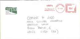 ITALIA - ITALY - ITALIE - 2002 - 00,41 EMA, Red Cancel - Arpa - Viaggiata Da Ravenna Per Lugo - Affrancature Meccaniche Rosse (EMA)