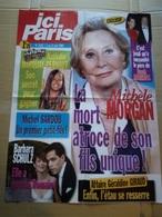 "Affiche ""ici Paris"" N°3127  Michelle Morgan ; Nathalie Marquay-Pernaut ; Barbara Schulz ; M. Sardou ; Géraldine Giraud - Affiches"