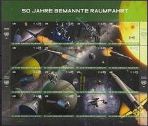 2011 UNO Wien Mi. 699-714 **MNH   50 Jahre Bemannte Weltraumfahrt. - Wien - Internationales Zentrum