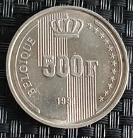 Belgium 500 Francs 1991  - UNC - 1951-1993: Baudouin I