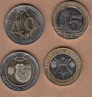MOLDOVA 2018 Set 2 Coins --- 5 And 10 Lei UNC - Moldova