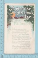 Carte Postale CPA -A Regular Christmas Day - Used Voyagé En 1922 + USA Stamp, Cover Jackson N.Y. - Noël