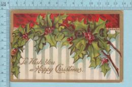 Carte Postale CPA -A Regular Christmas Day - Used Voyagé En 1912 + USA Stamp, Rumford Maine - Noël