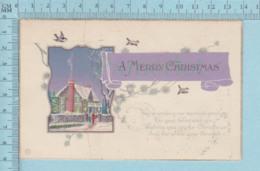 Carte Postale CPA - Christmas  - Used Voyagé En 1920 + USA Stamp, Cover Pawtucket R.I. - Noël
