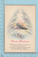 Carte Postale CPA - Christmas,   - Used Voyagé En 1923 + USA Stamp, Send To Brattleboro Vermont - Noël