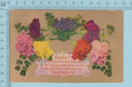 Carte Postale CPA - Christmas, Smile Flowers  - Used Voyagé En 1912 + USA Stamp, Send To Easton N.H. - Non Classés