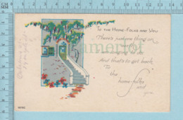 Carte Postale CPA - ClovFlowers - Used Voyagé En 1923 + USA Stamp, Cover Orleans VT - Cartes Postales