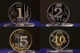 MOLDOVA 2018 Set 4 Coins UNC - Moldova