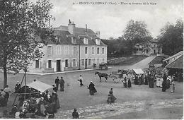 CHER - 18 - BIGNY VALLENAY - MARCHE SUR LA PLACE ET AVENUE DE LA GARE - EDITEUR E.N. - Autres Communes