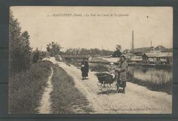 ANTIEKE  P.C.  MASNIERES (Nord) Le Pont Du Canal De St-Quentin - France