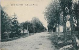 D18 - CAMP D'AVORD - LOT DE 2 CARTES - LA ROUTE DE BOURGES - AVENUE DE BOURGES - Avord