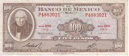 BILLETE DE MEXICO DE 100 PESOS DEL AÑO 1972 (BANKNOTE) - Mexico