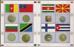 2012 UNO Wien Mi. 738-45 **MNH .  Flaggen Und Münzen Der Mitgliedsstaaten - Wien - Internationales Zentrum