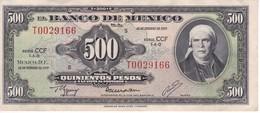 BILLETE DE MEXICO DE 500 PESOS DEL AÑO 1977 (BANKNOTE) - México
