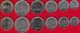 Venezuela Set Of 6 Coins: 10 - 1000 Bolivares 2002-2005 UNC - Venezuela