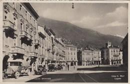 SWITZERLAND-SCHWEIZ-SUISSE-SVIZZERA--AUTO CAR VOITURE-LOCARNO-PIAZZA GRANDE-VERA FOTO-VIAGGIATA IL 1-11-1934 - TI Ticino