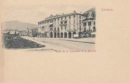 SWITZERLAND-SCHWEIZ-SUISSE-SVIZZERA-LOCARNO-HOTEL DE LA=COURONNE=CARTOLINA NON VIAGGIATA-ANNO 1898-1904 - TI Ticino