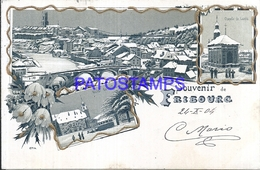 109845 SWITZERLAND FRIBOURG MULTI VIEW CIRCULATED TO ITALY POSTAL POSTCARD - Ohne Zuordnung