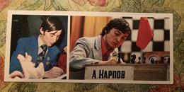 USSR. ANATOLY KARPOV, World Chess Champion - JEU - ECHECS. 1980. Long Format - Cartes Postales